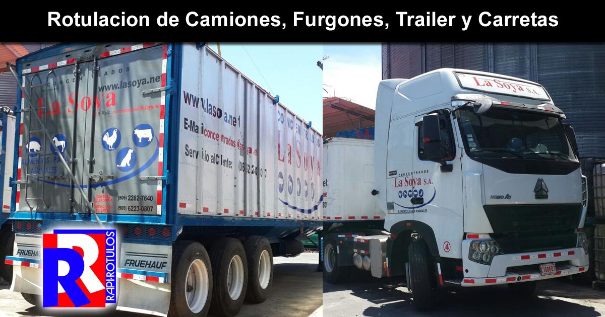 Lee el articulo completo Rotulacion de Camiones, Furgones, Trailer y Carretas
