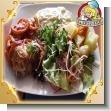 Menu Catering Service - 08 - Lomito de cerdo relleno con queso mozzarella, espinacas y zanahoria