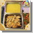 Menu Catering Service - 01 - Filet de pollo en salsa blanca con hongos o Agridulce