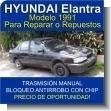 HYUNDAI Elantra Modelo 1991 - Para reparar o repuestos - Oportunidad