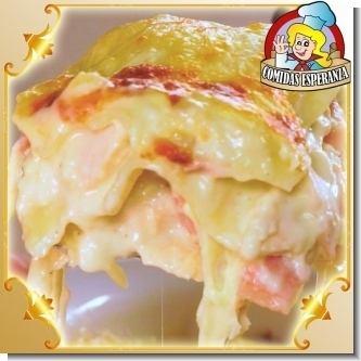 Lee el articulo completo Menu Catering Service - 09 - Lasana de pollo o de carne en salsa blanca o salsa roja